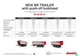 New trailer with push-off bulkhead BR FP